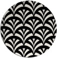 rug #337325 | round white graphic rug