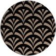 rug #337333 | round black graphic rug