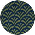 rug #337357 | round blue retro rug