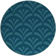 rug #337369 | round blue-green graphic rug