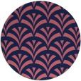 rug #337413   round blue-violet retro rug