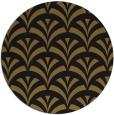rug #337437 | round mid-brown retro rug
