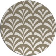 rug #337461 | round mid-brown retro rug