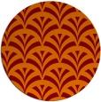 rug #337509 | round red-orange retro rug
