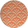 rug #337517 | round orange retro rug