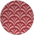 rug #337537 | round pink retro rug
