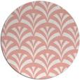 rug #337541 | round pink graphic rug