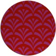 rug #337573   round red graphic rug