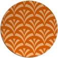 rug #337581 | round red-orange retro rug
