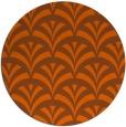 rug #337585 | round red-orange graphic rug
