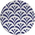 rug #337601 | round blue retro rug