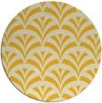rug #337609 | round yellow retro rug