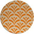 rug #337637 | round orange graphic rug