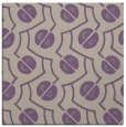 rug #339965 | square purple circles rug