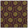 rug #340013 | square purple circles rug