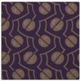 rug #340017 | square purple circles rug