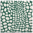 rug #341677 | square blue-green animal rug
