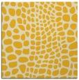 rug #341833 | square yellow animal rug
