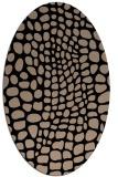 rug #341909 | oval beige animal rug