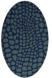 rug #341929 | oval blue animal rug