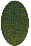 rug #341957 | oval green animal rug