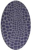 rug #341985   oval blue-violet animal rug