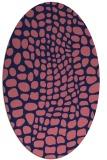 rug #341989 | oval pink animal rug