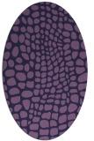 rug #341993 | oval purple animal rug