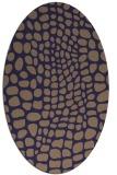 rug #342005 | oval blue-violet animal rug