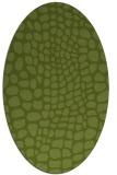 rug #342021   oval green animal rug