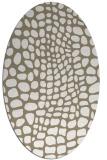 rug #342037   oval white animal rug