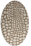 rug #342049 | oval mid-brown rug