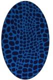 rug #342065 | oval blue rug