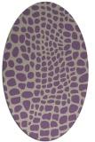 rug #342077 | oval purple animal rug
