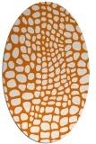 rug #342089   oval orange animal rug