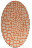 rug #342093 | oval orange animal rug