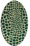 rug #342101 | oval yellow rug