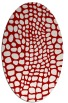 rug #342137 | oval red animal rug