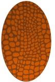 rug #342161   oval red-orange rug