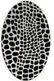rug #342169 | oval white animal rug