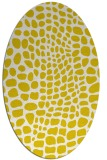 rug #342173 | oval white animal rug