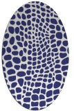 rug #342177 | oval blue animal rug