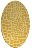 rug #342185   oval yellow animal rug