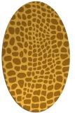 rug #342201 | oval light-orange rug