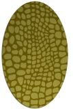 rug #342217 | oval light-green animal rug