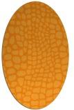 rug #342241 | oval light-orange animal rug