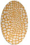 rug #342245 | oval light-orange rug