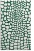 rug #342381    blue-green animal rug