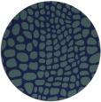 rug #342633 | round blue animal rug