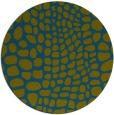 rug #342661 | round blue-green animal rug